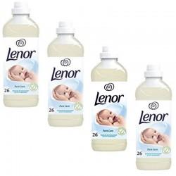 Lot de 4 Adoucissants Lenor 650 ml Adoucissant Pure Care Caresse Envoûtante sur Couches Zone