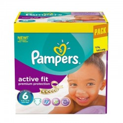 Pack 120 Couches Pampers Active Fit - Premiun Protection taille 6