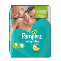 Pack 90 couches Pampers Baby Dry sur Couches Zone