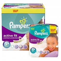 Maxi Pack 288 Couches Pampers Active Fit - Premium Protection taille 5+ sur Couches Zone