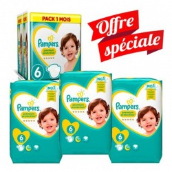 Giga Pack 168 Couches Pampers New Baby - Premium Protection taille 6