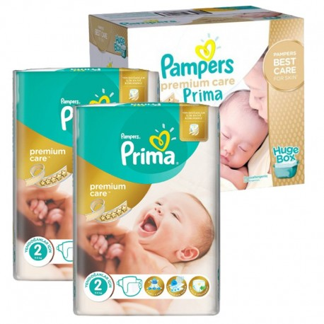 Maxi Pack 242 Couches Pampers Premium Care - Prima taille 2 sur Couches Zone