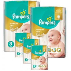 Maxi Pack 340 Couches Pampers Premium Care - Prima taille 3