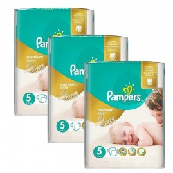 Maxi Pack 208 Couches Pampers Premium Care - Prima taille 5