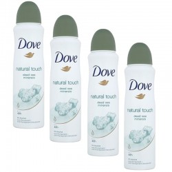 Lot 4 Deodorants Dove Natural Touch sur Couches Zone