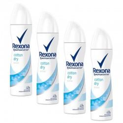 Lot 4 Deodorants Rexona Motion Sense Cotton Dry sur Couches Zone