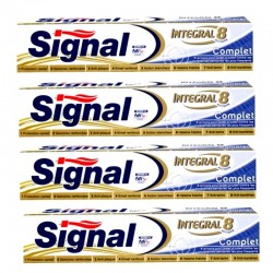 Lot 4 Dentifrices Signal Integral 8 Complet sur Couches Zone