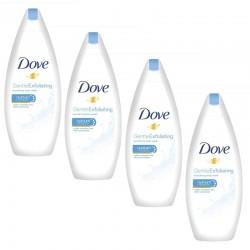 Lot de 4 Gels Dove Douche 250 ml Gentle Exfoliating sur Couches Zone
