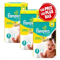 Mega Pack 200 Couches Pampers New Baby - Premium Protection taille 3