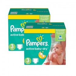 Pack 108 Couches Pampers Active Baby Dry taille 3 sur Couches Zone