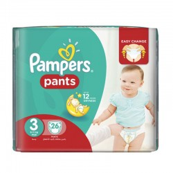 Pack 26 Couches Pampers Baby Dry Pants taille 3 sur Couches Zone