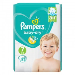 Pack 23 Couches Pampers Baby Dry taille 7 sur Couches Zone