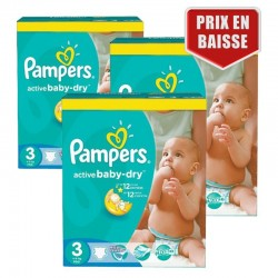 Maxi Pack 432 Couches Pampers Active Baby Dry taille 3