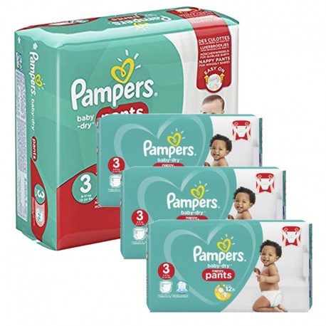 Giga Pack 390 Couches Pampers Baby Dry Pants taille 3 sur Couches Zone