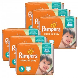 Giga Pack 232 Couches Pampers Sleep & Play taille 5