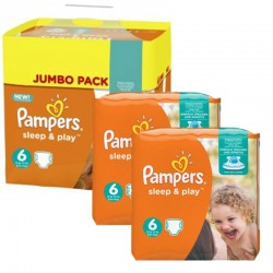 Maxi Pack 150 Couches Pampers Sleep & Play taille 6