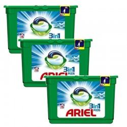 Lot de 3 Ariel Pods 16 Original 3in1 (454,4 gr) sur Couches Zone
