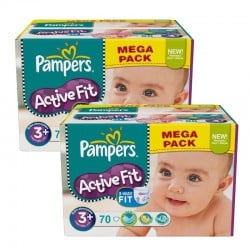 Giga Pack 140 Couches Pampers Active Fit sur Couches Zone