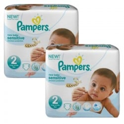 Mega pack 120 Couches Pampers New Baby Sensitive