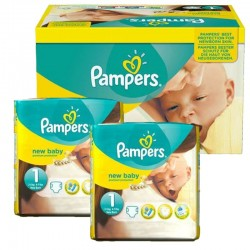 Mega Pack 138 couches Pampers New Baby Premium Protection sur Couches Zone