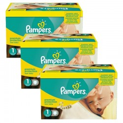 Maxi Pack Jumeaux 506 Couches Pampers new baby - premium protection taille 1 sur Couches Zone