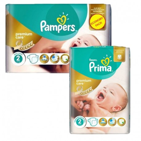 Pack 114 Couches Pampers new baby - premium protection sur Couches Zone