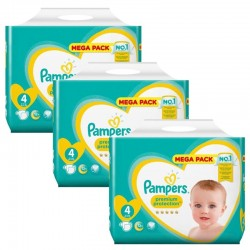 Giga Pack 234 Couches Pampers New Baby Premium Protection sur Couches Zone