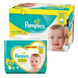 Mega Pack 390 Couches Pampers New Baby Premium Protection sur Couches Zone