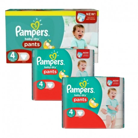 Pack 188 couches Pampers Baby Dry Pants sur Couches Zone