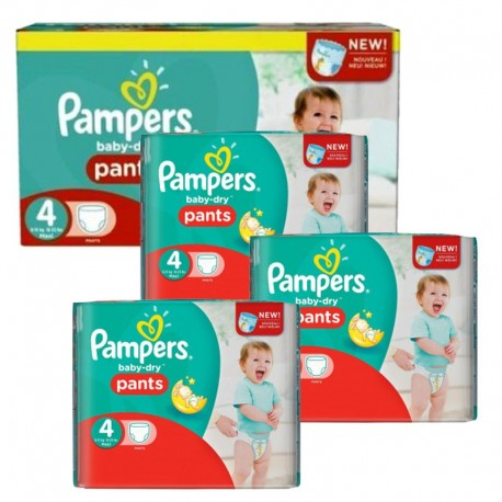 Mega Pack 376 Couches Pampers Baby Dry Pants taille 4 sur Couches Zone