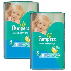Maxi Pack 176 Couches Pampers Active Baby Dry sur Couches Zone