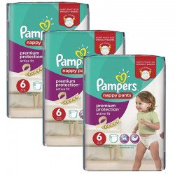 Pack 64 couches Pampers Active Fit Pants