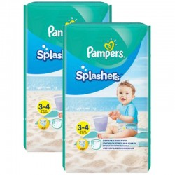 Giga Pack 36 Couches de Bain Pampers SPLASHERS