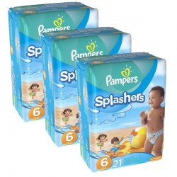 Giga pack 63 Couches de Bain Pampers Swimming Pants Splashers sur Couches Zone