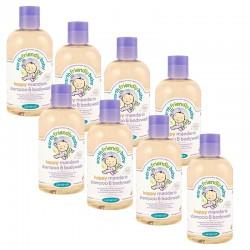 Pack de 8 Gels Douche Shampoing Bio Pour Bébé à la Mandarine sur Couches Zone
