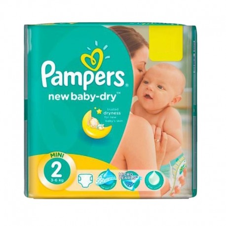 Pack 43 Couches Pampers New Baby Dry sur Couches Zone