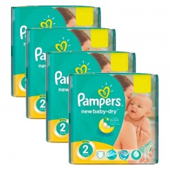 Giga Pack 215 Couches Pampers New Baby Dry