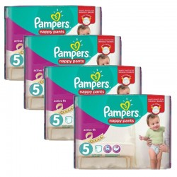 Maxi Pack 160 Couches Pampers Active Fit Pants