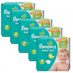 Maxi Mega Pack 210 couches Pampers Baby Dry sur Couches Zone