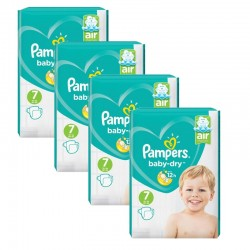 Maxi Mega Pack 216 couches Pampers Baby Dry sur Couches Zone