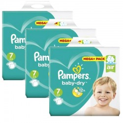 Mega Pack 174 couches Pampers Baby Dry sur Couches Zone