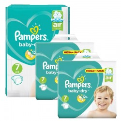 Maxi Mega Pack 232 couches Pampers Baby Dry sur Couches Zone