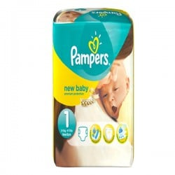 New Baby - Pack de 56 Couches Pampers taille 1 sur Couches Zone