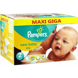 Pack jumeaux 516 Couches Pampers New Baby Dry