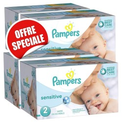 Maxi giga pack 300 Couches Pampers New Baby Sensitive