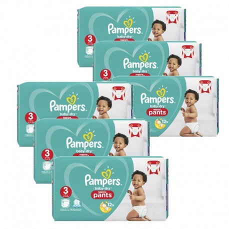 Maxi giga pack 320 Couches Pampers Baby Dry Pants taille 3 sur Couches Zone