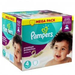 Maxi mega pack 492 Couches Pampers Active Fit Premium Protection taille 4