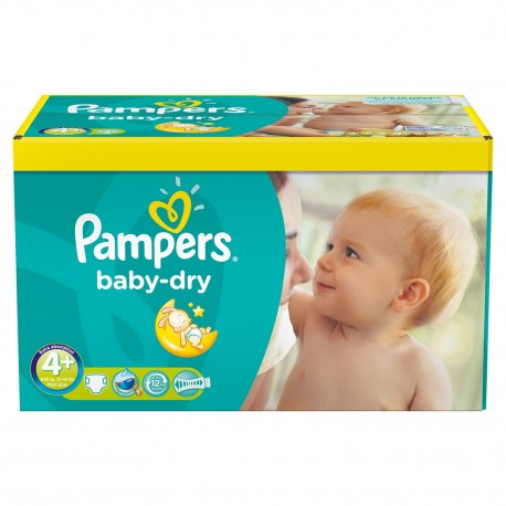 Maxi giga pack 369 Couches Pampers Baby Dry taille 4+ sur Couches Zone