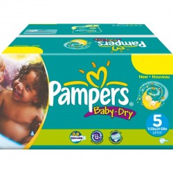 Maxi mega pack 432 Couches Pampers Baby Dry sur Couches Zone