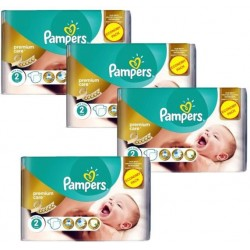 76 Couches Pampers New Baby Premium Care taille 2 sur Couches Zone